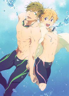 Makoto and Nagisa      ~Free! Iwatobi Swim Club