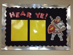 Castle theme bulletin board