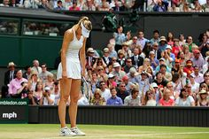 Maria Sharapova looks down during her Fourth round match