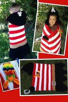 Ravelry: Pirate Khyler's Hooded Blanket pattern by Heidi Yates