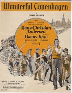 "cover sheetmusic ""Wonderful Copenhagen"", movie Hans Christian Andersen"