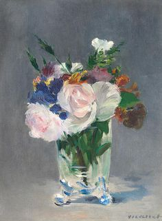 Edouard Manet, Flowers in a Crystal Vase
