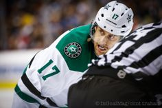 Rich Peverley - Dallas Stars vs. Vancouver Canucks - 11.17.2013 - Photo by Clint Trahan/InGoal Magazine