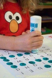 Do a dot letter mazes.