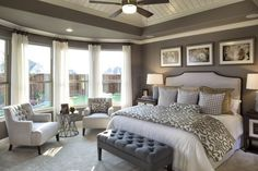 90 Comfortable Master Bedroom Decor Models For Your Home 5 ~ Top Home Design Master Room, Master Bedroom Design, Dream Bedroom, Home Bedroom, Bedroom Ideas, Bedroom Designs, Master Bathroom, Master Bedroom Furniture Ideas, Luxury Master Bedroom