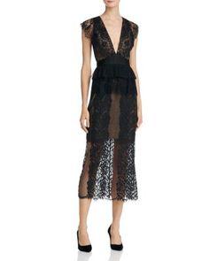 Three Floor Lace Affair V-Neck Dress | Bloomingdale's