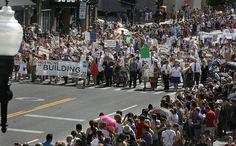 Mormons Building Bridges group leads the annual Gay Pride Parade through downtown Salt Lake City, Sunday, June 3, 2012. (Scott Sommerdorf  |  The Salt Lake Tribune)