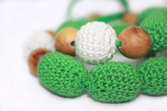 http://www.etsy.com/treasury/MTE2NDE2OTB8MjcyMjk3ODI1Mg/summer-colors?index=56  GreenWhite Crochet Necklace  NEW Summer  Trend  by designML, $23.00