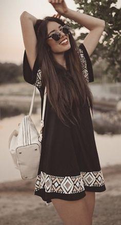 Black and white festival dress! be-jewel.com
