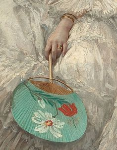 """""""Reflections"""" (detail) 1875 by Jules Emile Santin"""