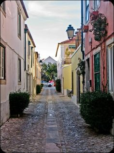 Downtown Cascais, Portugal - Our family lived in this town back in '68 - '69.  It was a beautiful town!!