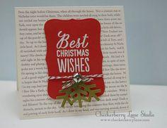 A Muse Studio - Wishing You the Merriest + Snowflake Trio Dies Too + Labels 8 die set http://www.amusestudio.com/stampshop http://www.checkerberrylane.com CAS Christmas Card Heat Embossing Using Jingle Bells