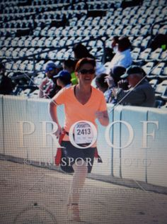 Josette finishing strong for her 2nd sub 3 hour half marathon finish at the Cal Classic 2014