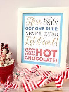 Polar Express Printable for a Hot Cocoa Bar- perfect for a Polar Express Family Night!