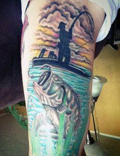 Men's Fish Hook Tattoos