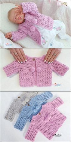 Terrific No Cost Crochet baby clothes Style Baby clothing crochet design Crochet Baby Sweater Pattern, Crochet Baby Sweaters, Baby Sweater Patterns, Baby Girl Sweaters, Baby Clothes Patterns, Crochet Baby Clothes, Baby Knitting Patterns, Baby Patterns, Crochet Patterns