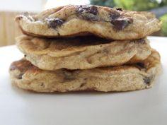 Banana, Chocolate Chip & Flaxseed Pancakes