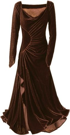 PYRAMID COLLECTION VIVIANE BURGUNDY VELVET STRETCH GOWN