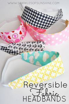 Most current No Cost easy sewing headbands Suggestions Reversible Fabric Headbands Easy Sew Tutorial - Sparkles of Sunshine Easy Sewing Projects, Sewing Projects For Beginners, Sewing Hacks, Sewing Tutorials, Sewing Crafts, Sewing Tips, Dress Tutorials, Sewing Headbands, Fabric Headbands