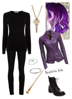 """Tonks"" by lunalynch13 ❤ liked on Polyvore featuring Paige Denim, Oasis, Madden Girl, The Giving Keys, Danier and Loree Rodkin"