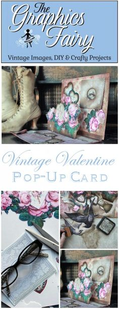 Vintage Valentine Pop Up Card Project - The Graphics Fairy