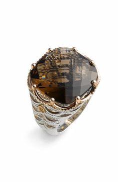 Tacori 'Truffle' Large Smoky Quartz Ring