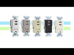 LEGRAND Decorator Quad USB Charger - Charge up to 4 USB 3.0/2.0 Devices, 4.2 Amp, Light Almond TM8USB4LACC6 at TigerDirect.com