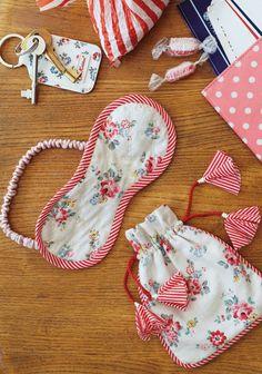 Sleep mask & pouch - free pattern @ Cath Kidston