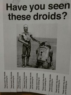 The droids you're looking for?