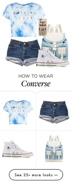 """Back to school: read D!"" by lucysenior on Polyvore featuring Forever New, Converse and Casetify"