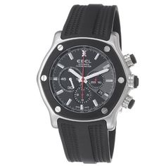 Ebel Men's 9137L83/5335606 1911 Tekton Black Rubber Strap Automatic Watch Ebel. $3615.99. Swiss automatic movement. Black chronograph dial. Water-resistant to 200 M (660 feet). Stainless steel case. Sapphire crystal. Save 60% Off!