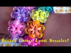 Beaded Flower Loom Bracelet Step-by-Step Tutorial! (Clear & Easy) - YouTube