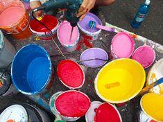 3Steps | Werther Mural | working | arbeiten | künstlerisch | kreativ | Kunst | Art | malen | sprühen | spray | painting | artist | Künstler | cans | Farbeimer