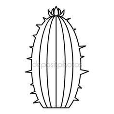 Letöltés - Virágzó kaktusz ikon, vázlat stílusában — Stock Illusztráció #143596675