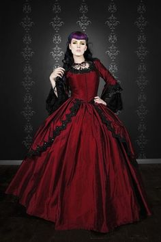 Red Gothic Wedding Dresses for Stylish and Sophisticated Bridal Look