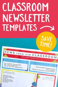 Teachers, are you spending too much time on your classroom newsletter each week? Here's a set of templates to speed up the process! Bonus: This resource includes a mobile-friendly email version as well! >>Click to learn more>>  #parentcommunication #classroomnewsletter #teaching #newsletter #classroom Newsletter Format, Classroom Newsletter Template, Email Templates, Newsletter Templates, Parent Teacher Communication, Parent Volunteers, Home Learning, Parents As Teachers