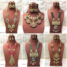 #sets #necklace #earrings #kundan #meenakari #highquality #richlook  #Beautiful #lovely #elegant #festive #wedding #trendy #designer #exclusive #statement #latest #design #ethnic #traditional #modern #indian #divaazfashionjewellery available Grab them fast 😍😍 Inbox for orders & more details plz Or mail at npsales421@gmail.com Beaded Jewelry, Jewellery, Festive, Ethnic, Necklaces, Indian, Traditional, Beads, Elegant