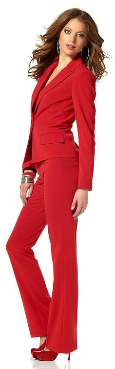 smart casual red suit