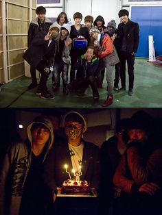 INFINITE throws a surprise birthday party for L on the set of 'Shut Up Flower Boy Band' #allkpop #INFINITE