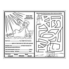 1000 images about apostle paul crafts on pinterest for Paul on damascus road coloring page
