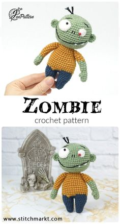 Mesmerizing Crochet an Amigurumi Rabbit Ideas. Lovely Crochet an Amigurumi Rabbit Ideas. Halloween Crochet Patterns, Crochet Animal Patterns, Amigurumi Patterns, Amigurumi Doll, Crochet Fall, Cute Crochet, Funny Crochet, Zombie Dolls, Crochet Hook Set