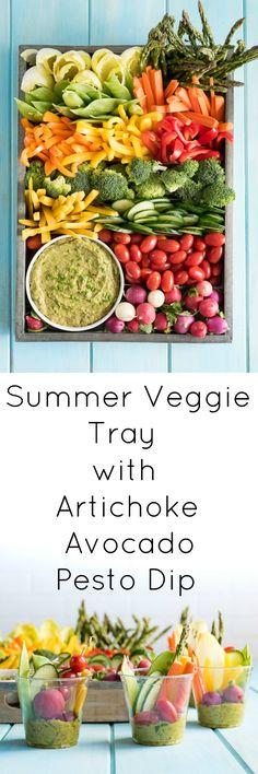 Summer Veggie tray with Artichoke Avocado Pesto Dip Summer Veggie Tray with Arti. Veggie Platters, Party Food Platters, Veggie Tray, Cheese Platters, Vegetable Trays, Cheese Food, Pesto Dip, Avocado Pesto, Charcuterie