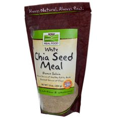 Now Foods, Real Food, White Chia Seed Meal, 10 oz (284 g) - iHerb.com    $$$$ $9.99 at local nature's pharm