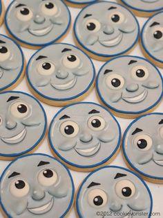 Cookievonster - Thomas the Train custom cookies