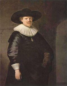 Portrait of a Man (possibly the poet Jan Harmensz Krul) Artist: Rembrandt