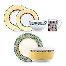 image of Villeroy & Boch Twist Alea 18-Piece Dinnerware Set