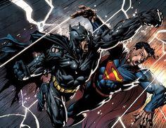 Batman e Superman Por vezes melhores amigos, por outras grande rivais. O combate entre os dois maiores nomes da DC sempre foi um grande atrativo, um não tem poderes, mas possui as maiores habilidade ao alcance de um ser humano, o outro um alienígena que defende a Terra. Apesar da força do Homem de Aço parecer impossível de ser derrotada pelo Homem-Morcego, houve vários instantes em que ele saiu vitorioso dessa luta. O próximo grande encontro entre os dois será no longa dirigido por Zack…