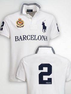 29bba03f11f Ralph Lauren Barcelona NO.2 Polo Shirt White  Shop 2105  -  38.23