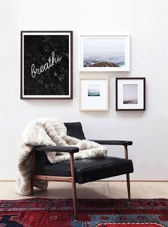 Breathe Quote Wall Art | Black and White Print | Quote Print | Black and White Art | Scandinavian Print | Typography Print | Saying Wall Art ---All Artwork is Printed on High Quality, 56 lb Premium Pro Matte Paper using Premium Quality Ink ---FREE Standard Shipping Anywhere in the