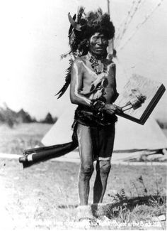 """""""The only thing I really believe is the pipe religion."""" - Black Elk, near death, to his daughter Lucy Looks Twice. Pictured here is Black Elk in South Dakota, circa 1900. South Dakota Historical Society via SDPB (South Dakota Public Broadcasting)"""